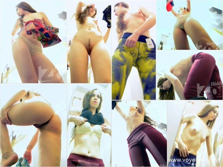 Hidden Zone women's locker room spy mini camera shot